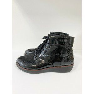 FitFlop N61-001 Black Gianini Lace-Up Boots